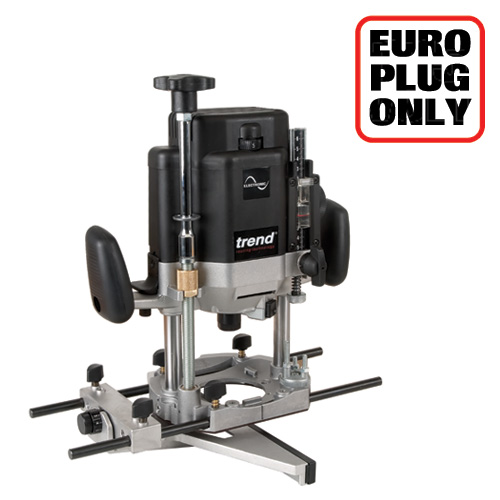 TREND T11EK/EURO - 2000W 12mm Var Speed Router 230V - Authorised distributors only 1