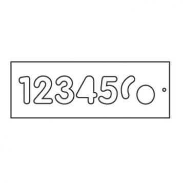TREND WP-T/NUC/57A - Template 57mm upper case 1-6 1