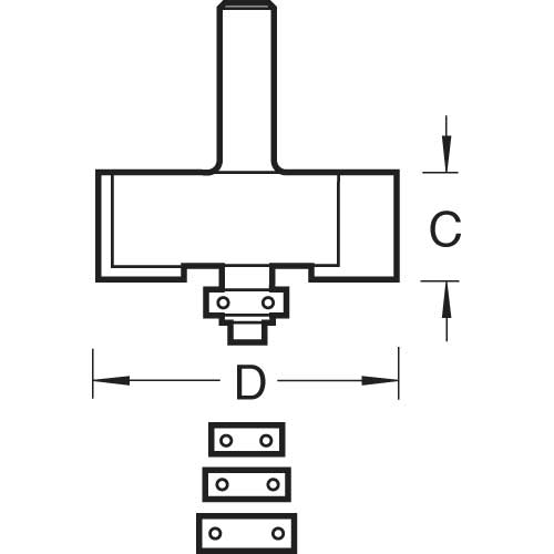 TREND TR34X1/2TC - Bearing guided rebater 12.7mm 2