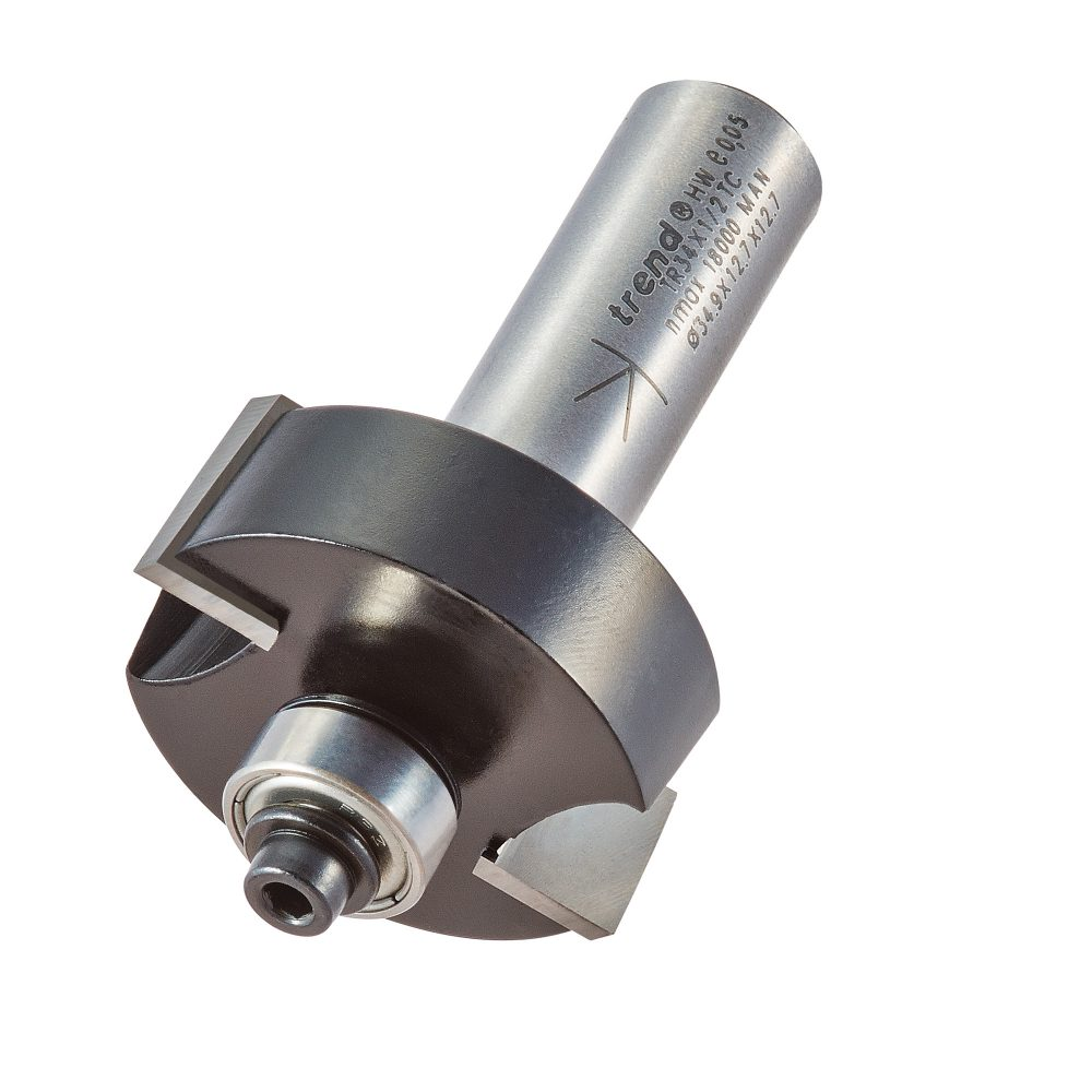 TREND TR34X1/2TC - Bearing guided rebater 12.7mm 1