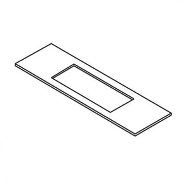 TREND WP-LOCK/T/19 - Lock template 25mm x 60mm faceplate 2
