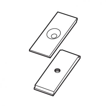 TREND WP-LOCK/B/03 - Alloy stop two part for LOCK/JIG/B 1