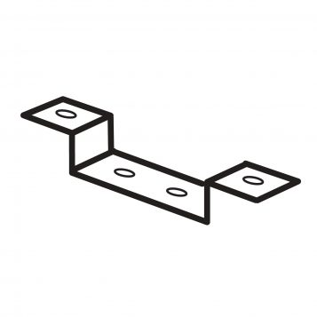 TREND WP-WRT/48 - Cable management clip bracket WRT 1