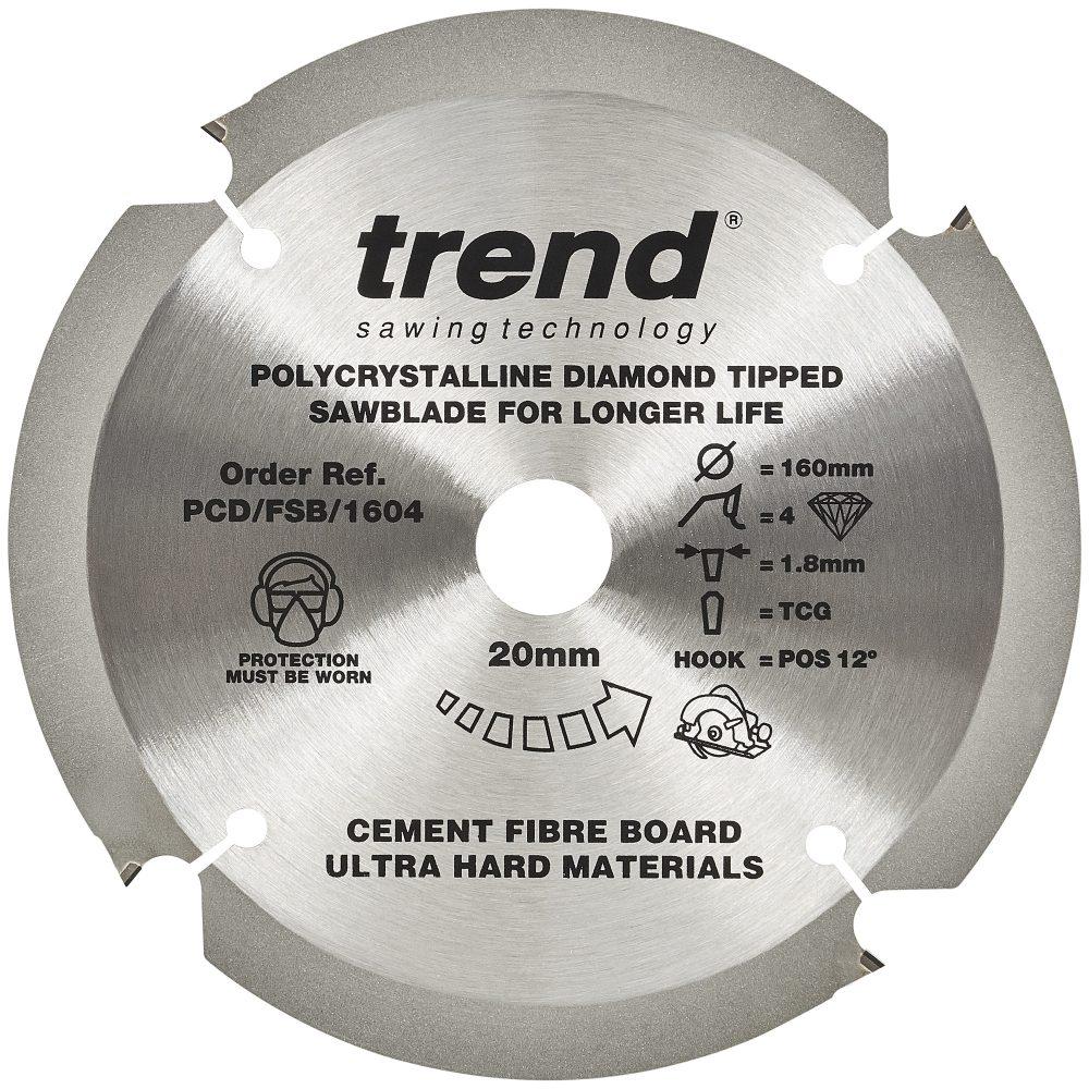 TREND PCD/FSB/1604 - Fibreboard sawblade PCD 160mm x 4T x 20mm 1
