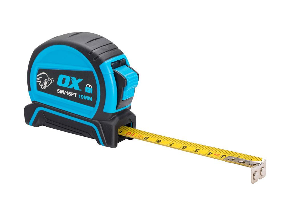 OX Pro Dual Auto Lock Tape Measure – 5m – OX-P505205