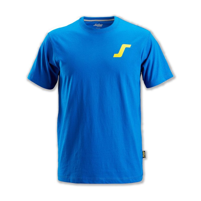 "Snickers Classic T-Shirt Blue With ""S"" Logo BSS2502-B 1"