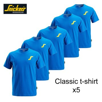 classic blue t-shirt with logo x5