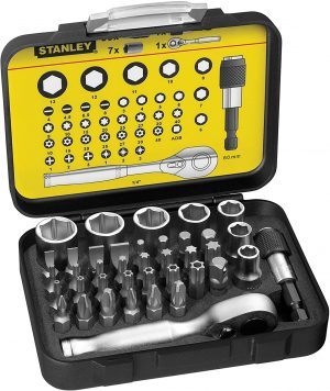 Stanley Fatmax 39pc Bit Socket Set and Ratchet