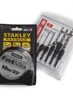"Stanley Fatmax STA33896 10m / 33"" Tape Measure Plus Trend Snappy 7 Piece drill set 1"