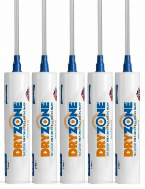 Dryzone Damp-proofing Cream 310ml x 5 BBA and WTA approved, High Strength DPC Most vigourously tested DPC cream on the market Tested on wide range of substrates Dryzone eliminates rising damp in masonry walls. The patented and BBA approved cream is simply injected into holes drilled along a horizontal mortar course. Once cured, the high-performance active ingredient will provide a dampness barrier, making that mortar course into a new damp-proof course. Powerful water repellent barrier Outperforms competing creams in laboratory testing - Up to 4x stronger Easy to Apply, No pressure pumps or solvent-based chemicals required BBA Approved - at least 20 Years protection Suitable for use in very damp walls The World's most vigorously tested damp-proofing cream High-strength formula with 80% active ingredient Accredited for up to 95% wall humidity Compatible with Dryzone System replastering specifications Dryzone Damp-proofing Cream 310ml x 5 Assured Performance Dryzone is the most rigorously tested and accredited damp-proofing cream on the market. It has been tested by numerous national and international testing houses, such as the BBA and the WTA. Laboratory and field testing has also shown that Dryzone outperforms creams by competing manufacturers in walls with either low or high levels of moisture saturation.