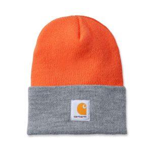 Carhartt Beanie Watch Hat - Orange / Grey