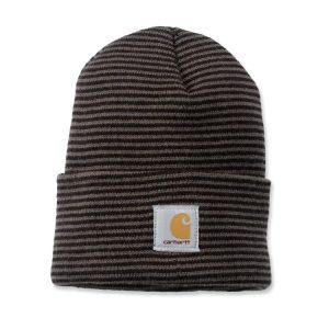 Carhartt Beanie Watch Hat - Tarmac Black Stripe