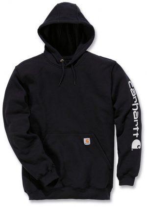 Carhartt Hoodie Midweight Sleeve Logo - Black