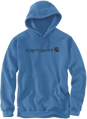 Carhartt Hoodie Signature Logo Midweight - Electric Blue