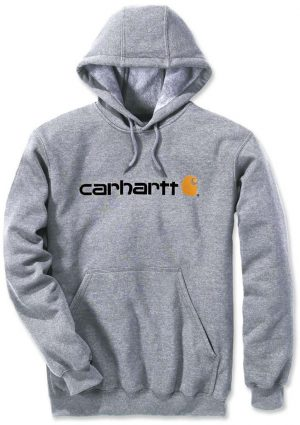 Carhartt Hoodie Signature Logo Midweight - Grey