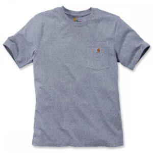 Carhartt T Shirt With Pocket 103296 K87 - Heather Grey