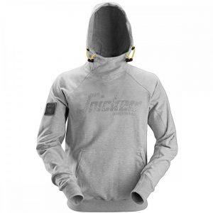 Snickers Hoodie 2881 Logo - Grey Melange