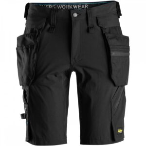 Snickers 6108 LiteWork Shorts With Detachable Holster Pockets - Black