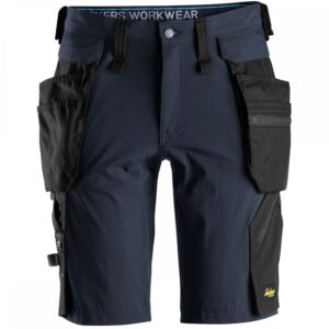 Snickers 6108 LiteWork Shorts With Detachable Holster Pockets - NavyBlack