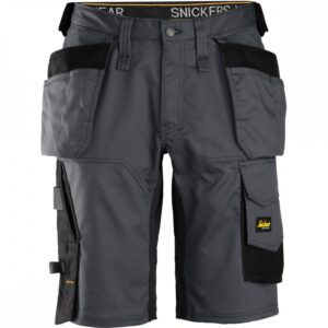 Snickers Shorts 6151 AllroundWork Stretch Holster Pockets - Steel Grey & Black