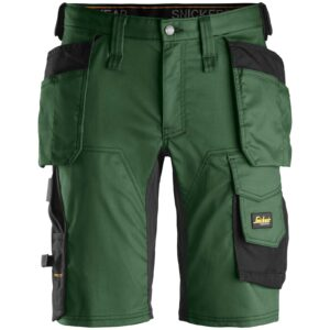Snickers Shorts 6141 AllroundWork Stretch Shorts Holster Pockets - Forest Green